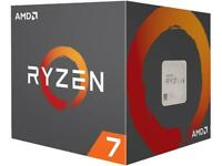 AMD RYZEN 7 2700 8-Core 3.2 GHz 4.1 GHz Max Socket AM4 65W Desktop Processor