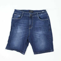 Route One Mens Spotted Blue Denim Shorts Size W32/L9