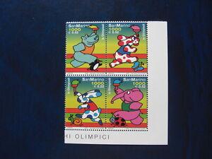 San Marino - 2000 - Olimpiadi - personaggi dei fumetti, angolo di foglio MNH**