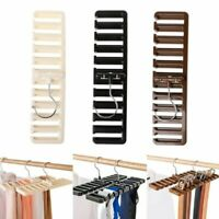 Tie Belt Scarf Hanger Storage Rack Holder Closet Organizer 10 Hole Position Home