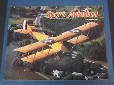 NOVEMBER 1987 SPORT AVIATION MAGAZINE *VG-COND*