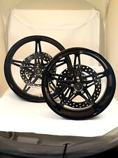 23 x 3.75 & 18 x 5.50 HARLEY STREET GLIDE BLACK HOLLYWOOD WHEEL SET WITH ROTORS