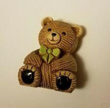 "Teddy Bear Figurine - Bow Tie 2""T x 1.5""W x 1.5""L Vg condition"
