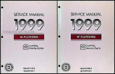 1999 Chevy Lumina Monte Carlo Manual Reparación 2 Volume Juego Originales