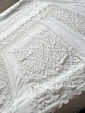 LOT Crochet Tablecloths Altar Handmade Vintage French Table Cloths Topper 3 LBS