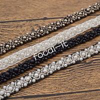 1yard Pearls Olivet Lace Trim Ribbon Sewing Applique Beaded Wedding Dress Decor