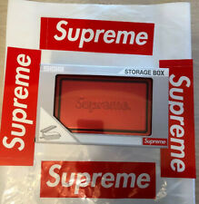 Supreme Sigg Small Metal Storage Box Red  SS18 100% Authentic 3 Box Logo Sticker