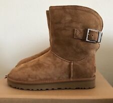 UGG Womens Remora Buckle Classic Winter Boots Chestnut Brown Size 7 1092709