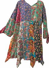 Nwt FUNKY STUFF floral patch hanky thin cotton voile TOP TUNIC DRESS 3X runs big