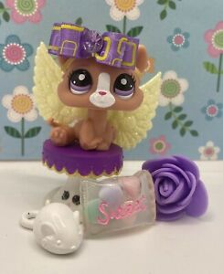 Littlest Pet Shop # 2191 Orange White Blind Bag Kitten Purple Eyes European Excl