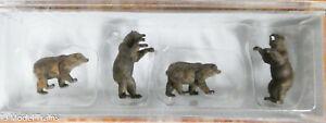 Preiser N #79717 Animals -- Brown Bears (1:160th Scale)