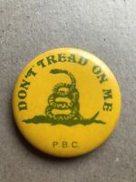 Don't Tread on Me PBC Peoples Bicentennial Commission Pin Pinback Button America