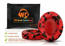 Wicked Cushions Beats Replacement Ear pads Compatible Studio 2.0 Wired Red NEW