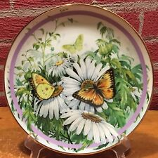 """Plate - The Hamilton Collection """"Orange Sulphur"""" Butterfly Paul Sweany 1986"""