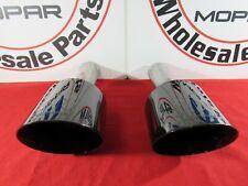 RAM 1500 BLACK 5in Upgraded Dual Mopar Exhaust Tips NEW OEM MOPAR