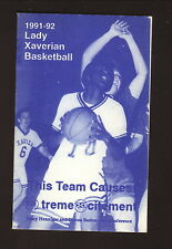 St Francis Xavier Xaverians--1991-92 Basketball Pocket Schedule