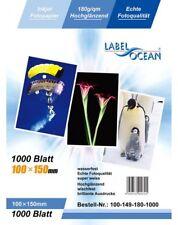 100 Feuilles Papier Photo 10x15 cm (100x150mm) Premium Haute Brillance 180g Labe