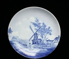 "Antique RS Delft Germany Blue & White Porcelain Plate 8 3/8"""