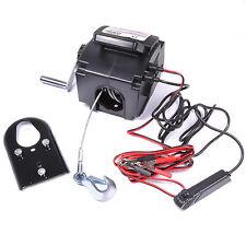 NEW 12V 2000LB ATV QUAD BOAT BIKE CAR VAN 30FT ELECTRIC RECOVERY WINCH HOIST KIT