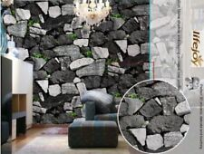 3D Marble Theme - 10M Project Wallpaper Grey Marble Mosaic Stone Slate Rock Look