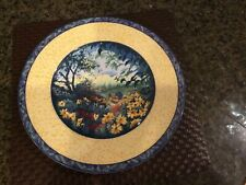 "Mint Rare Fitz and Floyd Classic Choices Cog Du Village 12"" Serving Platter"