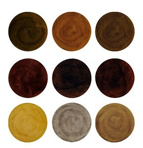 9 Colours 100% Carded Wool for needle /wet Felting Brown Tones 25g,50g,100g,200g