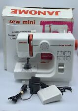 Janome Sewing Machine Model 525 Sew Mini White Red All Cords Included Fantastic