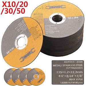 """20 30 50X 115MM 4.5"""" THIN METAL CUTTING BLADE DISC STAINLESS STEEL ANGLE GRINDER"""