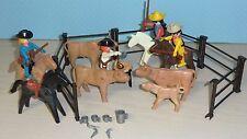 705 PLAYMOBIL 3484 bovini mandria con Cowboys Klicky V. 1980
