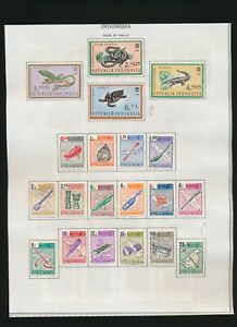 INDONESIA 1870-1984 LOT OF 820 USED & MINT STAMPS !! L62