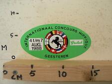 STICKER,DECAL C.S.I. GEESTEREN INT. CONCOURS HIPPIQUE 1988 GROLSCH HORSE PAARD A