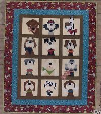 Dog-Gone Cute - fun applique & pieced quilt PATTERN - Whole Country Caboodle