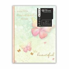 """Photo Album Butterfly Design Slip-In Album 6x4"""" Holds 80 Photos Gift Picture"""