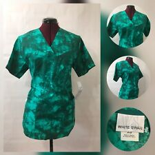 Scrubs woman Ladies Nurse hospital Uniform Scrub Top Extra Small dye tie Green