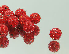 10mm cz Clay Crystal Disco Ball Make Bracelect Wholesale Shamballa Beads U PICK