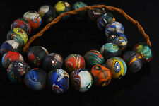old venetian trade bead glass african necklace liuli antique vintage africa real