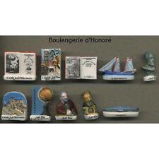 Série complète de 10 fèves Boulangerie d'Honoré - Jules Verne