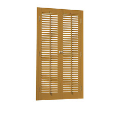 """Faux Wood DIY Traditional 1 1/4"""" Interior Shutter Kits 23"""" Width"""