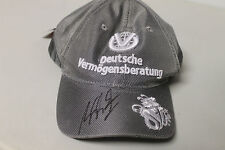 MICHAEL SCHUMACHER HAND SIGNED SILVER F1 CAP UNFRAMED + PHOTO PROOF & C.O.A