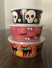 Halloween 3-pc. Melamine Nesting Storage Bowl Set with lids