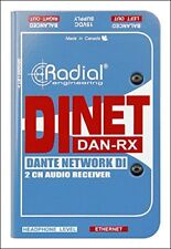 Radial DiNet Dan-Rx 2-Channel Dante Audio Receiver New + Free 2Day Shipping!