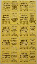 Stadspost Den Helder 1983 - Velletje 10 betaalzegels met diverse teksten 59-100