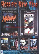 "Madman Nosteratu House Halloween ""Horrific New Year"" 2002 Magazine Advert #7050"