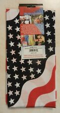 American Usa Wavy Flag Scarf Dew Head wrap Bandana 100% cotton Fast Shipping