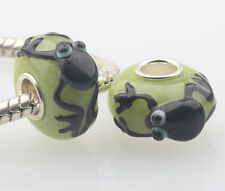 1pcs MURANO GLASS BEAD LAMPWORK Fit European Charm Bracelet DW-013 lovely Animal