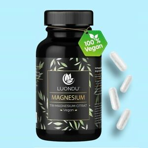 Magnesium Kapseln hochdosiert 750mg (120mg) elemen. Magnesiumcitrat 180 Stück