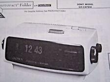 Sony Icf-C470W Clock Radio Photofact
