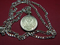 """IMPERIAL GERMAN EAGLE COIN PENDANT set on a 18"""" .925 Sterling Silver Chain"""