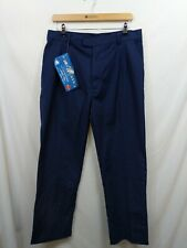 Brand New Work King Klopman Arco Blue Work Trousers Size 36R W36 L31 #WPC9