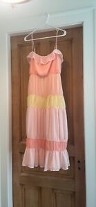 lovers and friends acer midi dress in sherbet